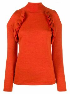 Chiara Bertani cold shoulder knitted top - ORANGE