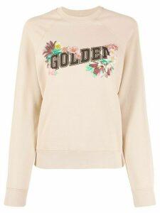 Golden Goose floral logo print sweatshirt - Neutrals