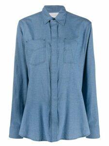 Fumito Ganryu stitched shirt - Blue