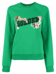 Golden Goose floral logo print sweatshirt - Green