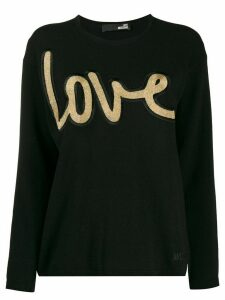 Love Moschino glitter logo jumper - Black