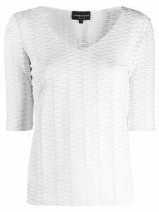 Emporio Armani cut-out detail top - White