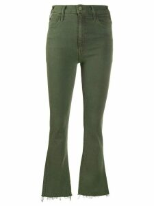 Mother flared high-waist jeans - Green