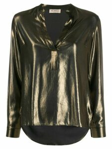 Blanca Vita V-neck blouse - GOLD