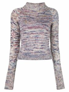 The Elder Statesman long-sleeve fitted sweater - Multicolour