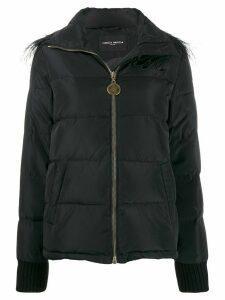 Frankie Morello padded embellished coat - Black