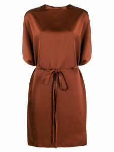 Blanca Vita belted T-shirt dress - Brown