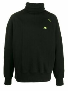 Ader Error roll-neck logo sweatshirt - Black