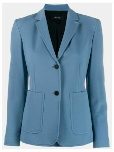 Theory plain fitted blazer - Blue