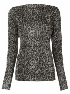 Peter Cohen leopard print fitted sweater - Black