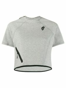 Nike Tech Fleece cropped top - Grey