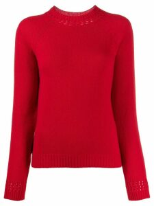 A.P.C. ribbed cut-out detail sweater - Red