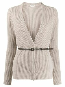 Peserico cable knit cardigan - NEUTRALS