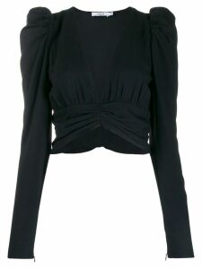 Amen ruched blouse - Black
