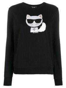 Karl Lagerfeld Choupette sweatshirt - Black