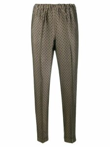 Alberto Biani jacquard trousers - NEUTRALS