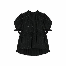 Brøgger Ally Black Fil Coupé Cotton Blouse