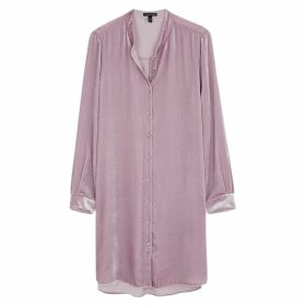 EILEEN FISHER Lilac Velvet Shirt