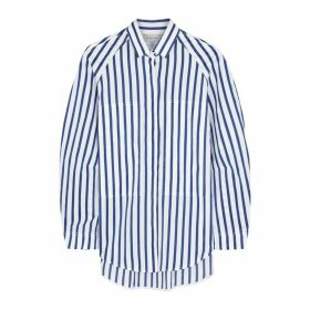 Lee Mathews Ottilie White Striped Cotton Shirt