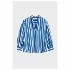 Chinti & Parker Blue Striped Parasol Blouse
