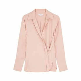 Equipment Plotine Dusky Pink Wrap Blouse