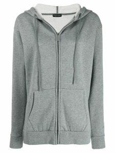 Emporio Armani zip fronted hoodie - Grey
