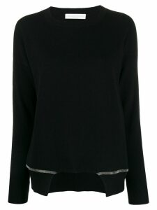 Fabiana Filippi long-sleeve asymmetric sweater - Black
