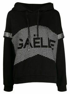 Gaelle Bonheur stud embellished hoodie - Black
