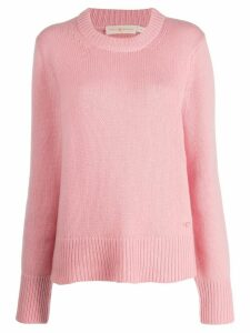 Tory Burch plain cashmere jumper - PINK