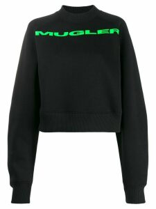 Mugler logo printed sweatshirt - Black