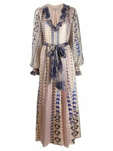 Temperley London Delilah snakeskin-print dress - PINK