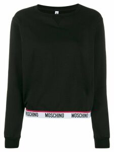 Moschino logo hem sweatshirt - Black