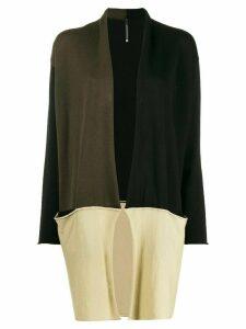 Pierantoniogaspari contrast knit cardigan - Black