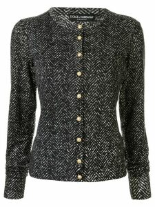 Dolce & Gabbana fitted chevron cardigan - Black