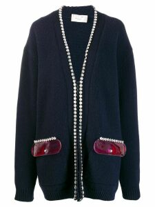 Christopher Kane crystal and gel cardigan - Blue