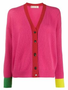 Marni colour-block cardigan - PINK