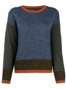 Phisique Du Role panelled houndstooth-pattern jumper - Blue