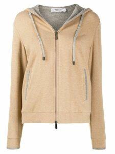 Peserico contrasting hoodie - Brown