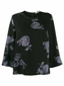 Odeeh floral print blouse - Black