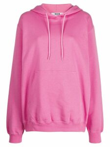 MSGM logo printed hooded sweatshirt - Pink