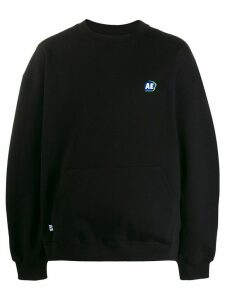 Ader Error logo embroidered front pocket sweatshirt - Black