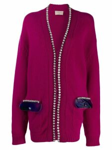 Christopher Kane crystal and gel cardigan - PINK