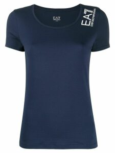 Ea7 Emporio Armani logo printed T-shirt - Blue