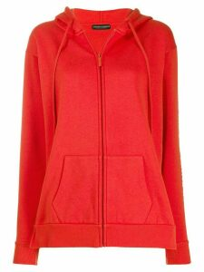 Emporio Armani zip fronted hoodie - Red
