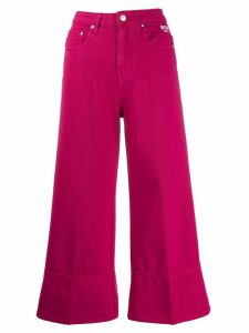 MSGM wide-leg cropped jeans - PINK