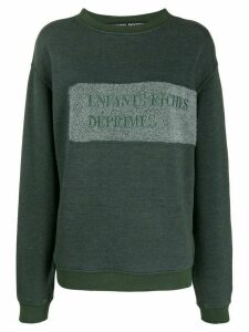 Enfants Riches Déprimés embroidered logo relaxed-fit sweatshirt -