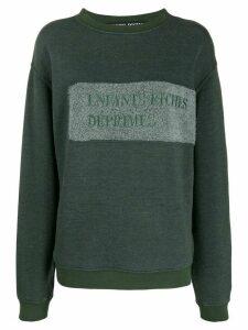 Enfants Riches Déprimés embroidered logo relaxed-fit sweatshirt -