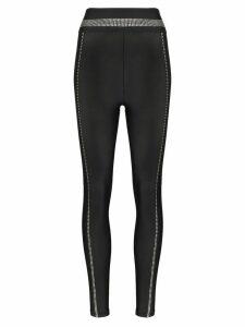 Adam Selman Sport crystal embellished performance leggings - Black