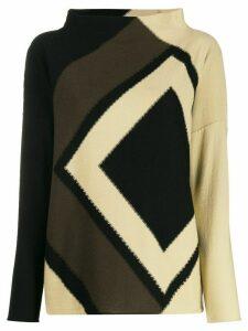 Pierantoniogaspari geometric-print knit jumper - Neutrals