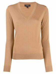 Theory V-neck sweater - NEUTRALS